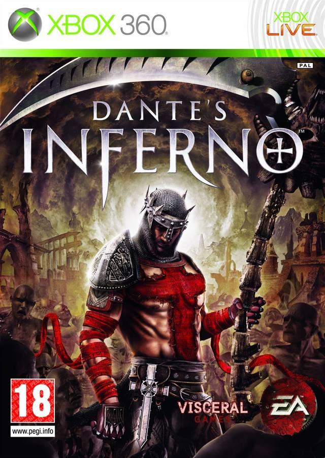 Front boxart of the game Dante's Inferno (Europe) on Microsoft Xbox 360