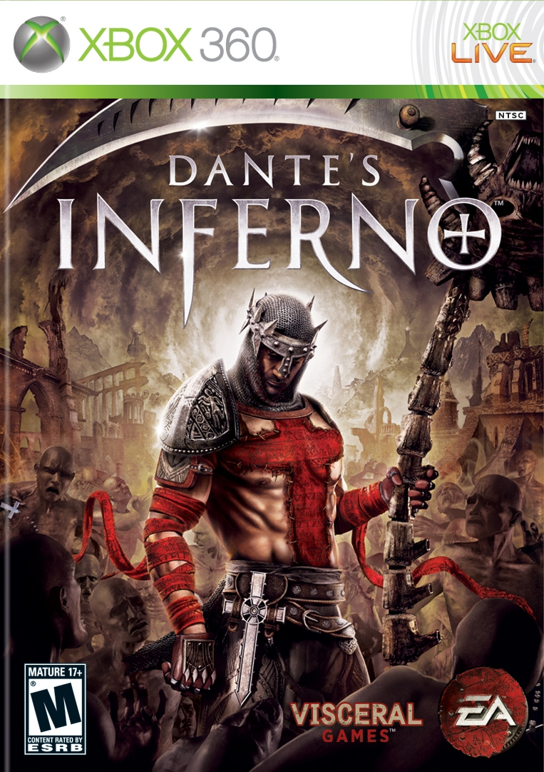 Front boxart of the game Dante's Inferno (United States) on Microsoft Xbox 360
