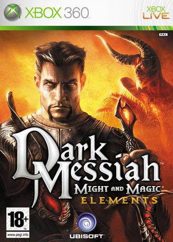 Front boxart of the game Dark Messiah of Might and Magic - Elements (Europe) on Microsoft Xbox 360