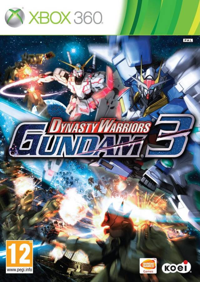 Front boxart of the game Dynasty Warriors - Gundam 3 (Europe) on Microsoft Xbox 360