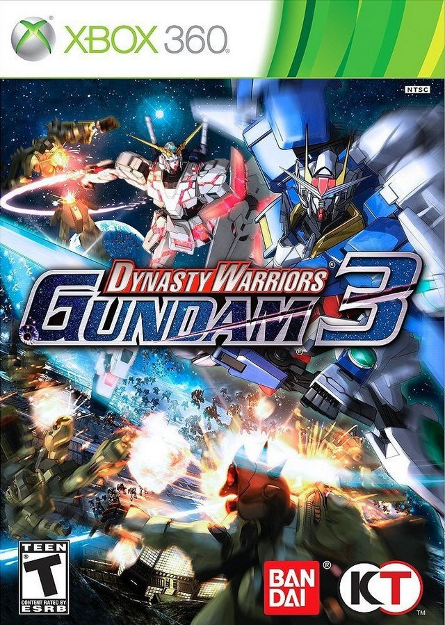 Front boxart of the game Dynasty Warriors - Gundam 3 (United States) on Microsoft Xbox 360