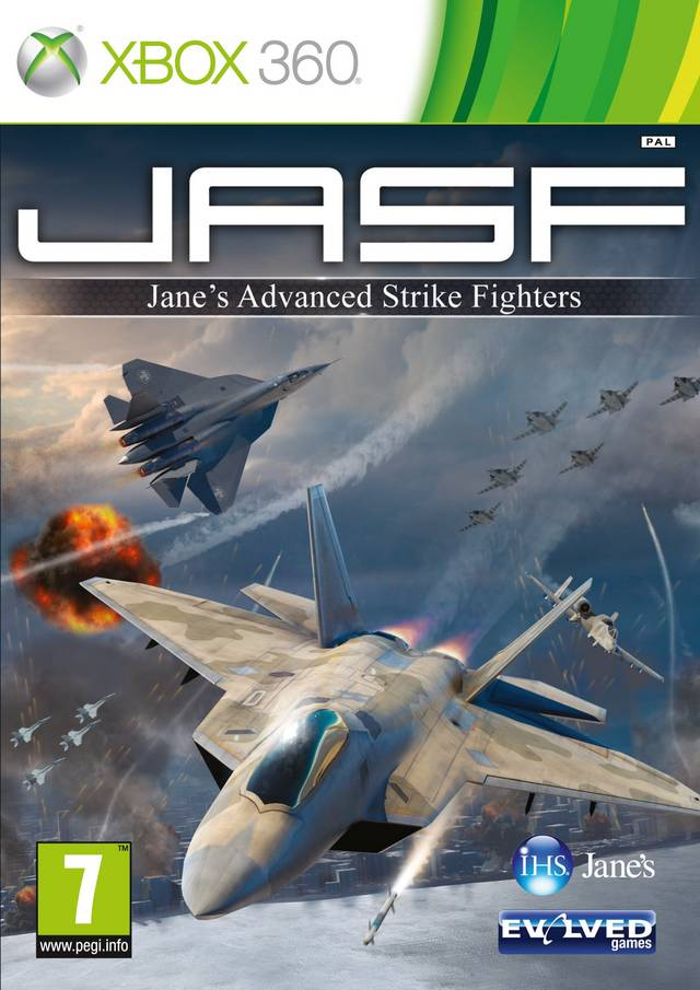 Front boxart of the game JASF - Jane's Advanced Strike Fighters (Europe) on Microsoft Xbox 360