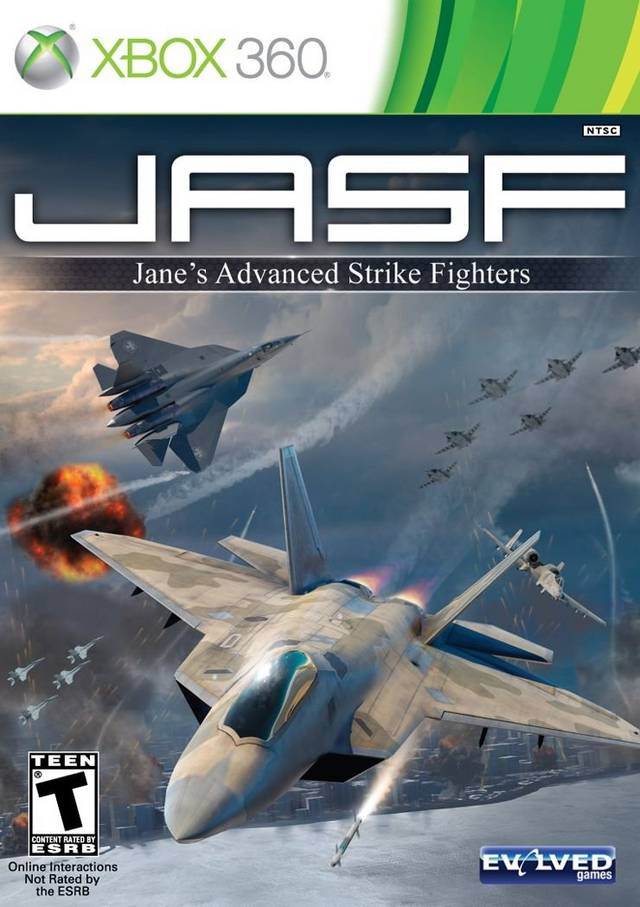 Front boxart of the game JASF - Jane's Advanced Strike Fighters (United States) on Microsoft Xbox 360
