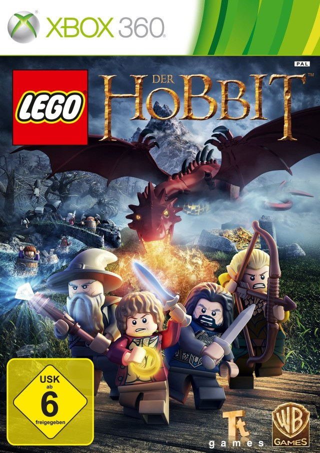 Front boxart of the game LEGO The Hobbit (Europe) on Microsoft Xbox 360