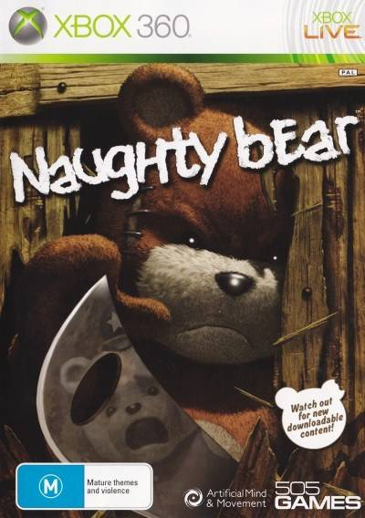 Front boxart of the game Naughty Bear (Australia) on Microsoft Xbox 360