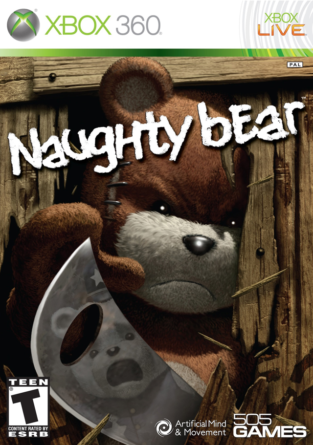 Front boxart of the game Naughty Bear (United States) on Microsoft Xbox 360