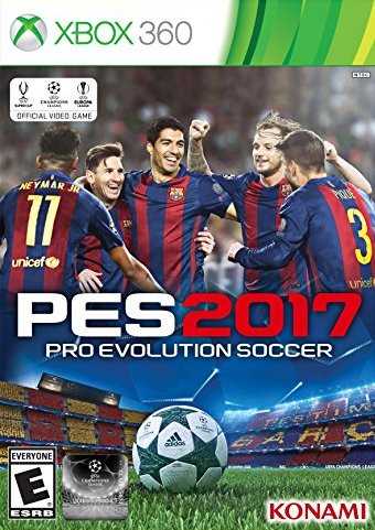 Front boxart of the game Pro Evolution Soccer 2017 (United States) on Microsoft Xbox 360