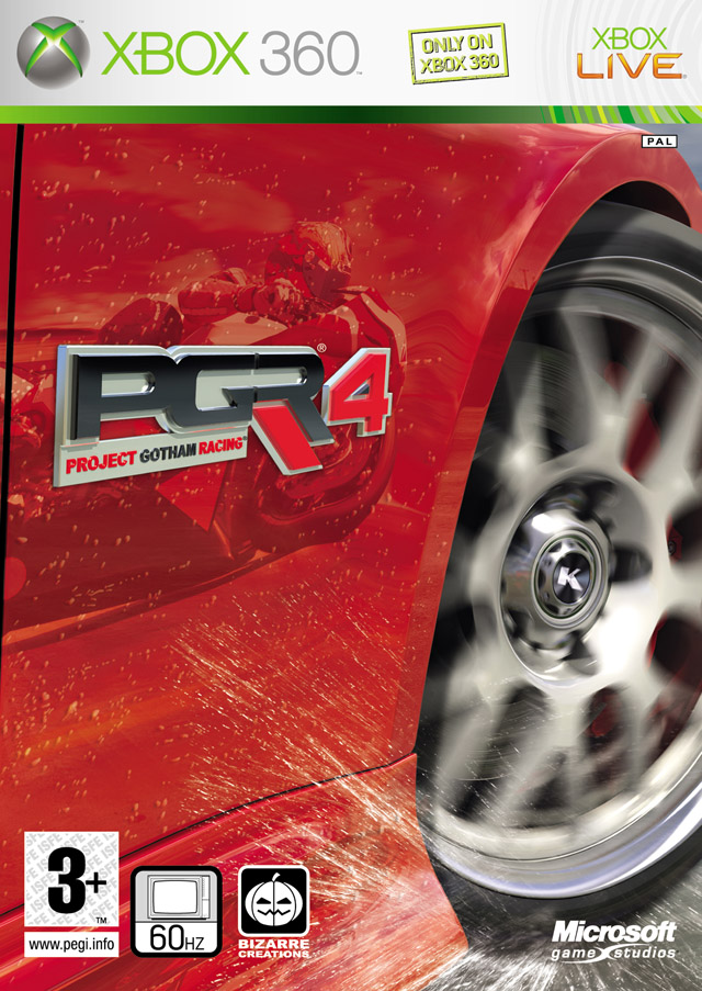 Front boxart of the game Project Gotham Racing 4 (Europe) on Microsoft Xbox 360