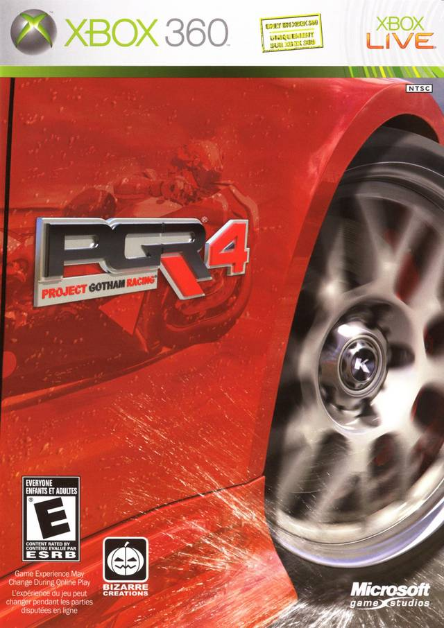 Front boxart of the game Project Gotham Racing 4 (United States) on Microsoft Xbox 360