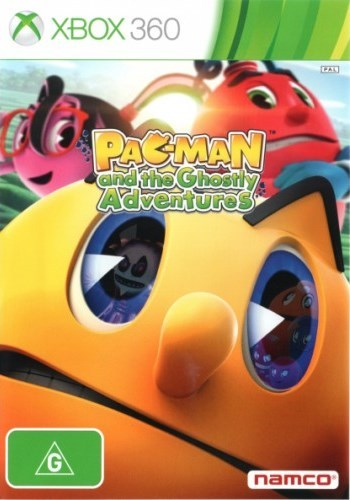 Front boxart of the game Pac-Man and the Ghostly Adventures (Australia) on Microsoft Xbox 360
