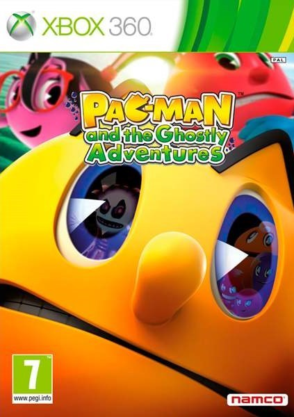 Front boxart of the game Pac-Man and the Ghostly Adventures (Europe) on Microsoft Xbox 360