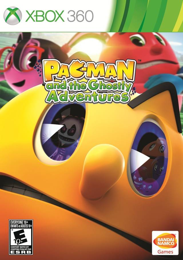 Front boxart of the game Pac-Man and the Ghostly Adventures (United States) on Microsoft Xbox 360
