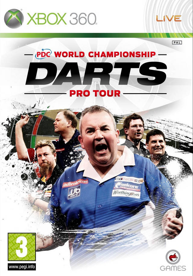Front boxart of the game PDC World Championship Darts - Pro Tour (Europe) on Microsoft Xbox 360