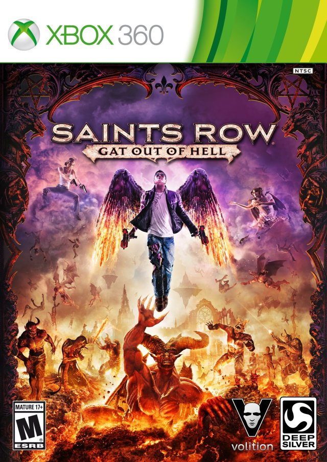 Front boxart of the game Saints Row - Gat Out of Hell (United States) on Microsoft Xbox 360
