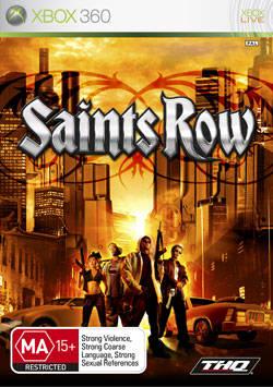 Front boxart of the game Saints Row (Australia) on Microsoft Xbox 360