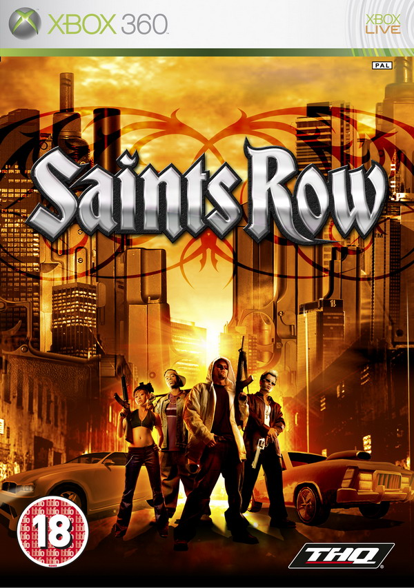 Front boxart of the game Saints Row (Europe) on Microsoft Xbox 360