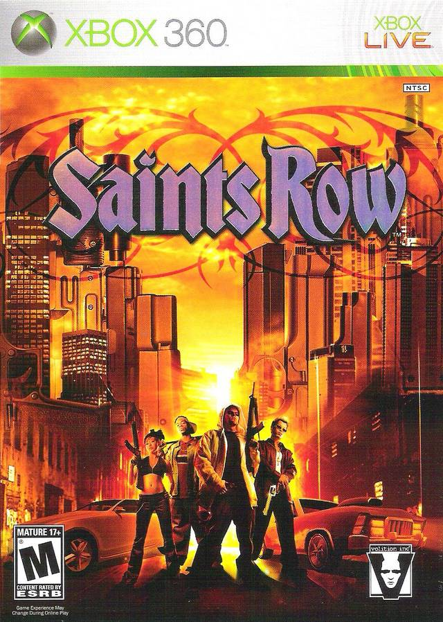 Front boxart of the game Saints Row (United States) on Microsoft Xbox 360