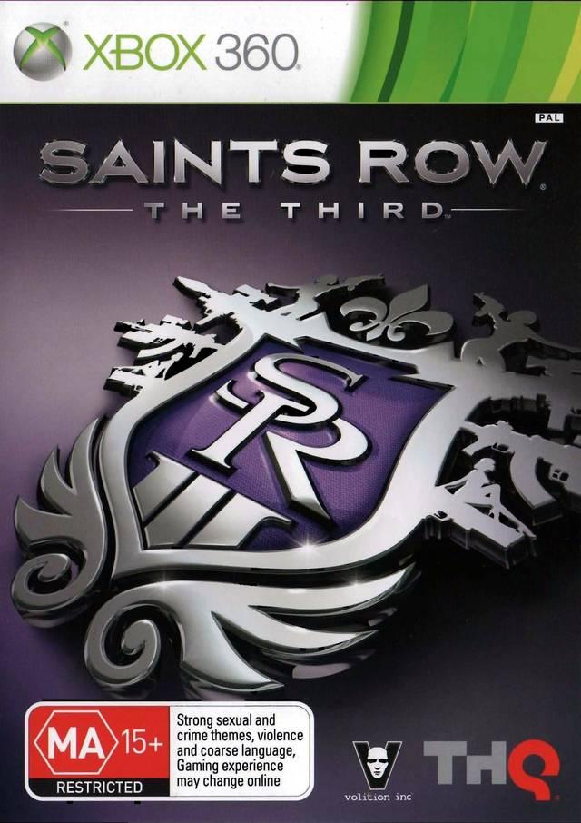 Front boxart of the game Saints Row - The Third (Australia) on Microsoft Xbox 360