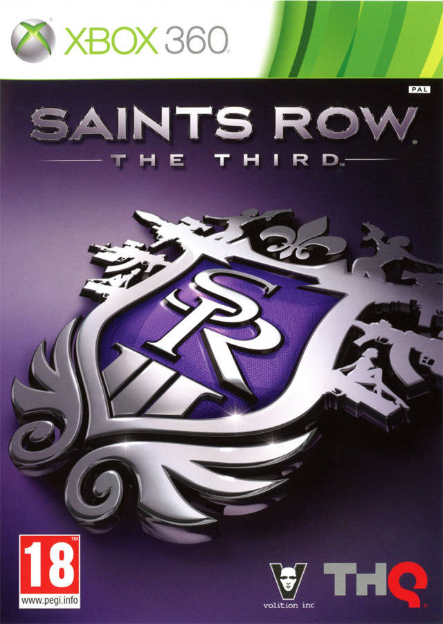 Front boxart of the game Saints Row - The Third (Europe) on Microsoft Xbox 360