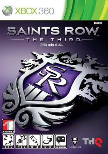 Front boxart of the game Saints Row - The Third (South Korea) on Microsoft Xbox 360