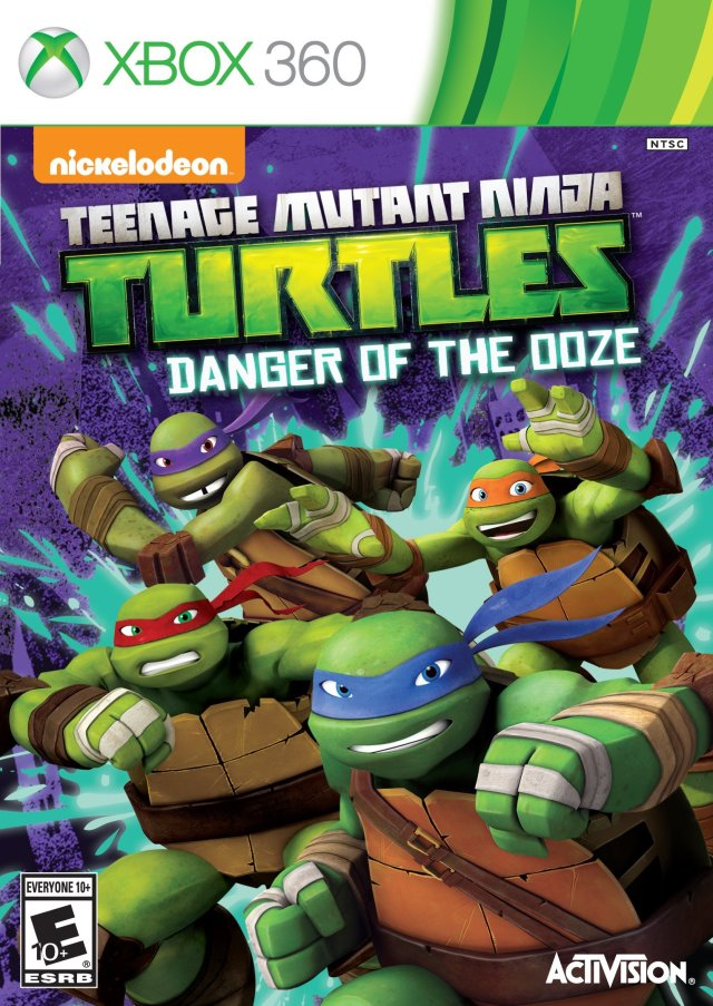 Front boxart of the game Teenage Mutant Ninja Turtles - Danger of the Ooze (United States) on Microsoft Xbox 360