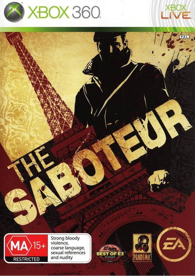 Front boxart of the game Saboteur, The (Australia) on Microsoft Xbox 360