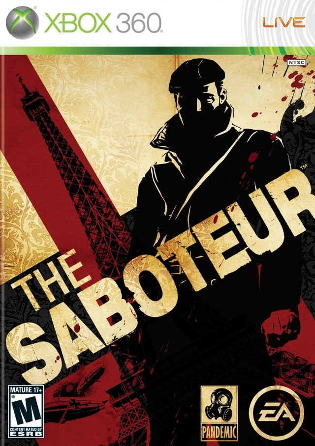 Front boxart of the game Saboteur, The (United States) on Microsoft Xbox 360