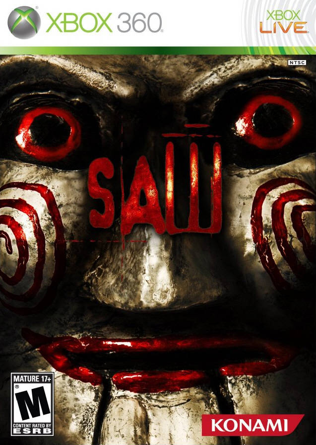 Front boxart of the game Saw (United States) on Microsoft Xbox 360