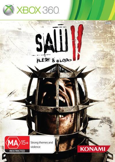 Front boxart of the game Saw II - Flesh & Blood (Australia) on Microsoft Xbox 360