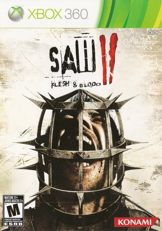 Front boxart of the game Saw II - Flesh & Blood (United States) on Microsoft Xbox 360