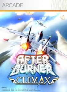 Front boxart of the game After Burner Climax (United States) on Microsoft Xbox 360
