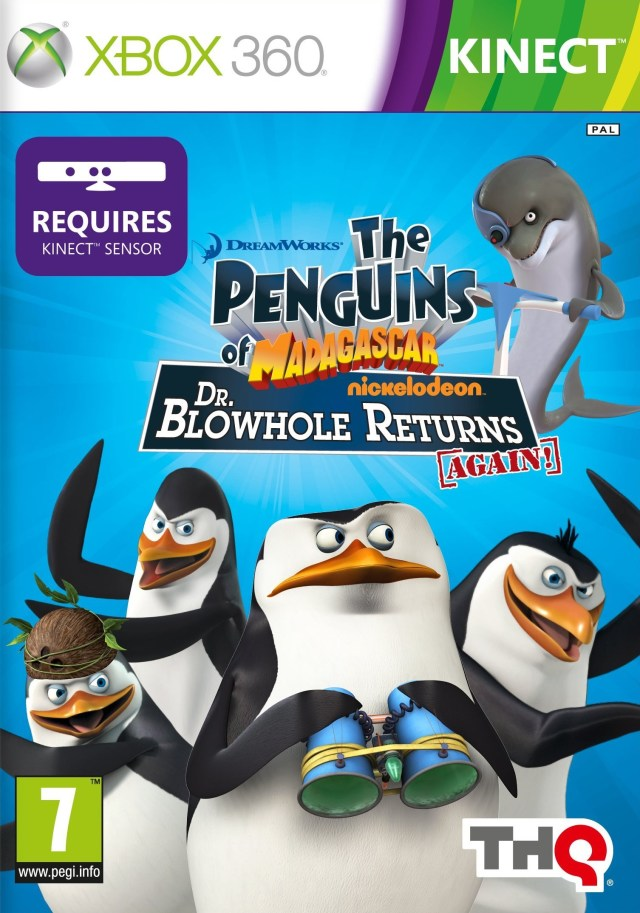 Front boxart of the game Penguins of Madagascar, The - Dr. Blowhole Returns - Again! (Europe) on Microsoft Xbox 360