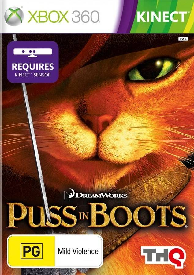 Front boxart of the game Puss in Boots (Australia) on Microsoft Xbox 360