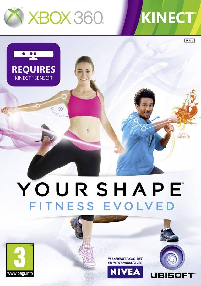 Front boxart of the game Your Shape - Fitness Evolved (Europe) on Microsoft Xbox 360