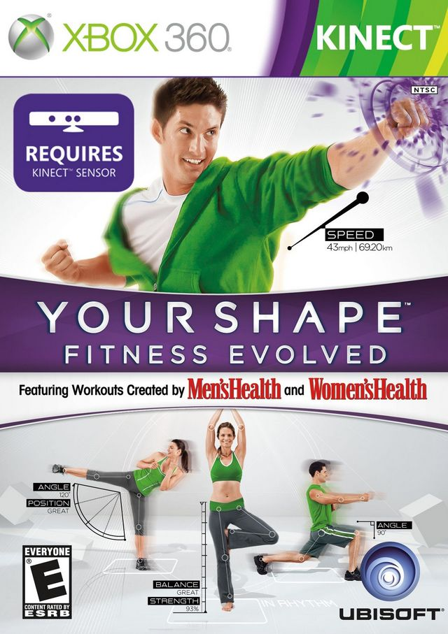 Front boxart of the game Your Shape - Fitness Evolved (United States) on Microsoft Xbox 360