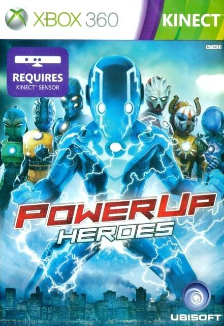Front boxart of the game PowerUp Heroes (Asia) on Microsoft Xbox 360