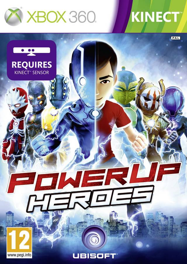 Front boxart of the game PowerUp Heroes (Europe) on Microsoft Xbox 360