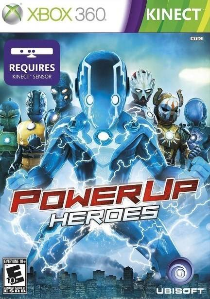 Front boxart of the game PowerUp Heroes (United States) on Microsoft Xbox 360