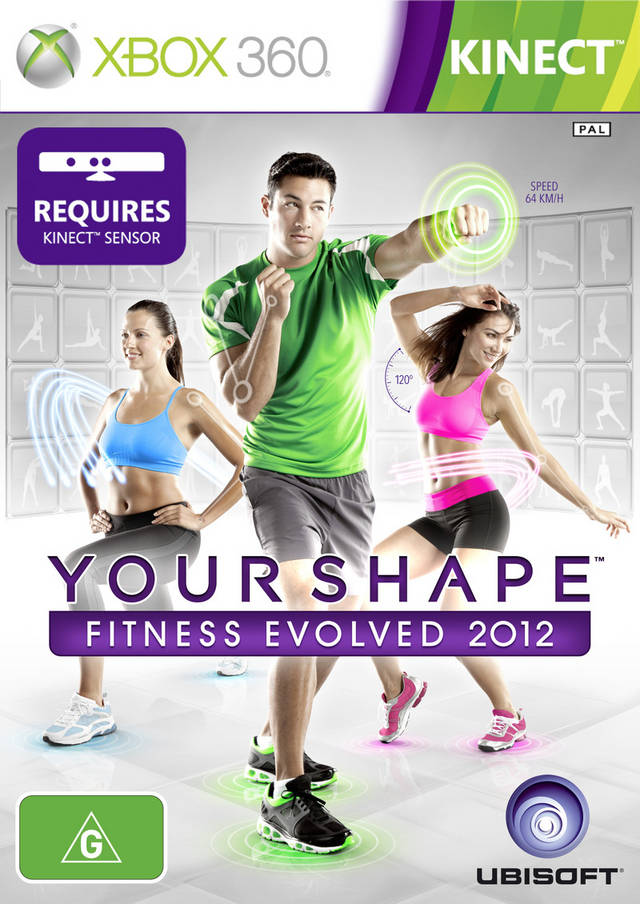 Front boxart of the game Your Shape Fitness Evolved 2012 (Australia) on Microsoft Xbox 360