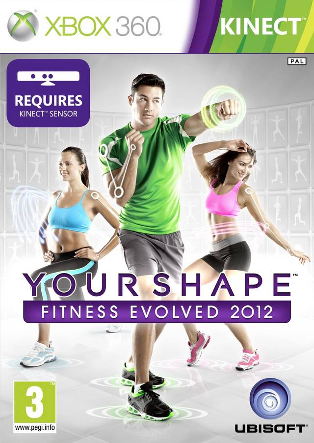 Front boxart of the game Your Shape Fitness Evolved 2012 (Europe) on Microsoft Xbox 360