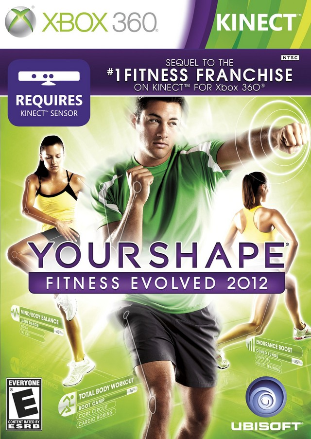 Front boxart of the game Your Shape Fitness Evolved 2012 (United States) on Microsoft Xbox 360