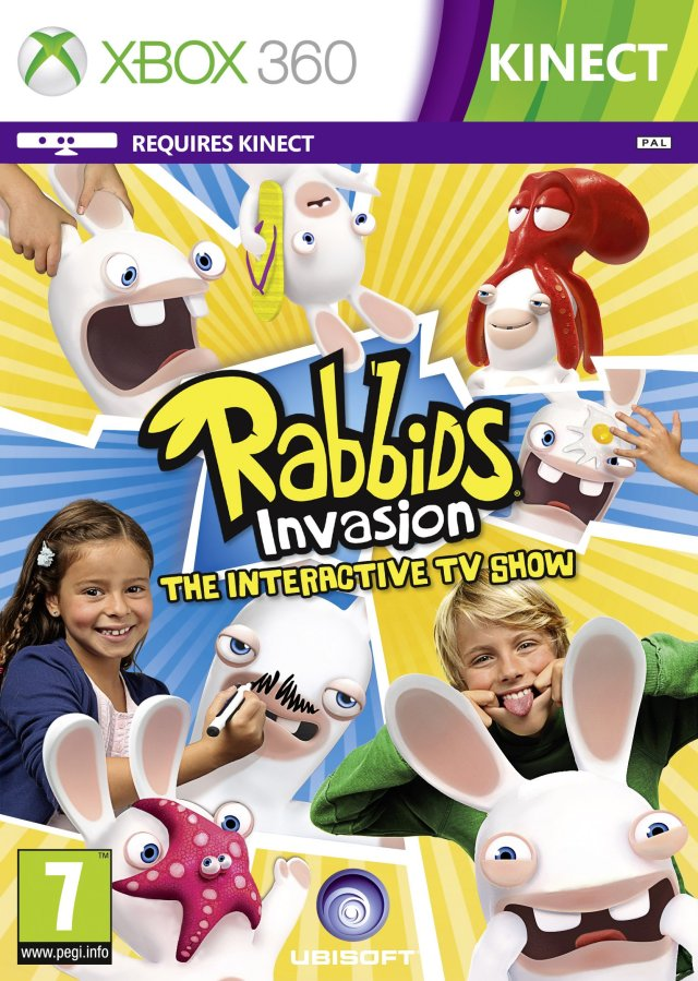 Front boxart of the game Rabbids Invasion (Europe) on Microsoft Xbox 360