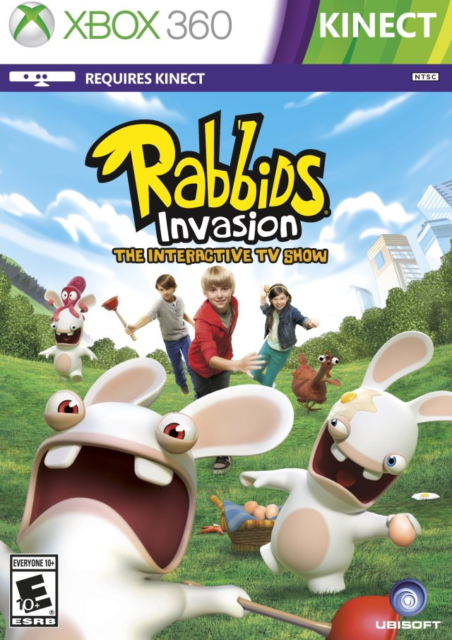 Front boxart of the game Rabbids Invasion (United States) on Microsoft Xbox 360