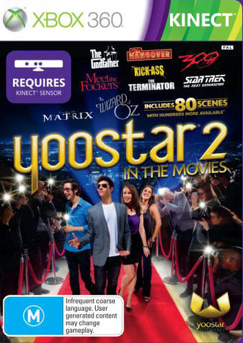 Front boxart of the game Yoostar 2 - In The Movies (Australia) on Microsoft Xbox 360