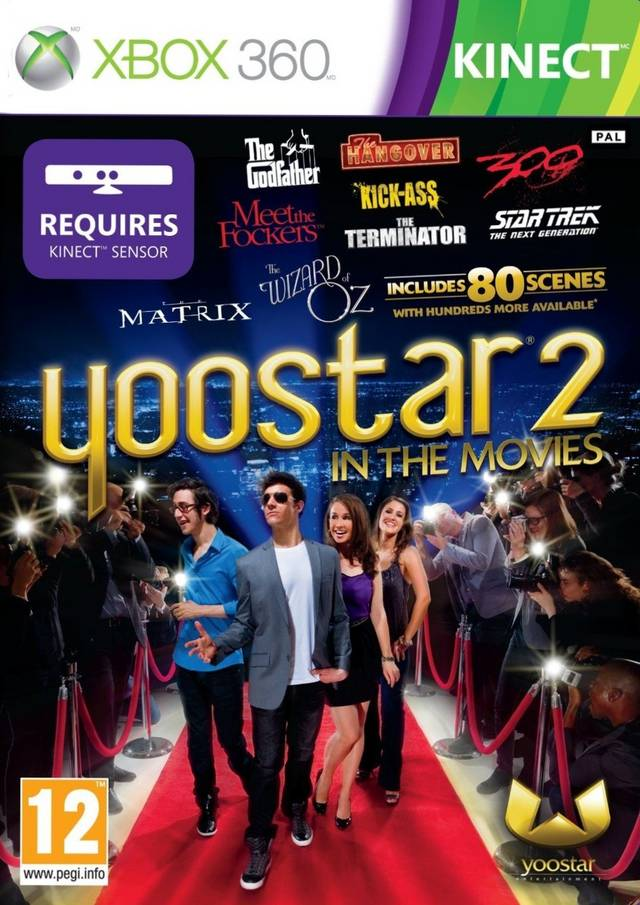 Front boxart of the game Yoostar 2 - In The Movies (Europe) on Microsoft Xbox 360