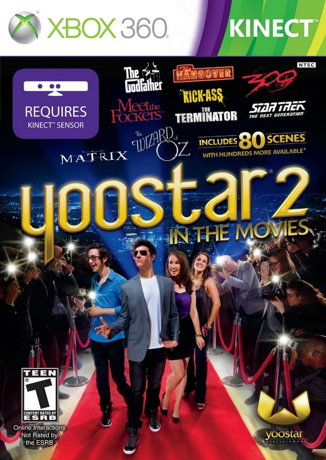 Front boxart of the game Yoostar 2 - In The Movies (United States) on Microsoft Xbox 360