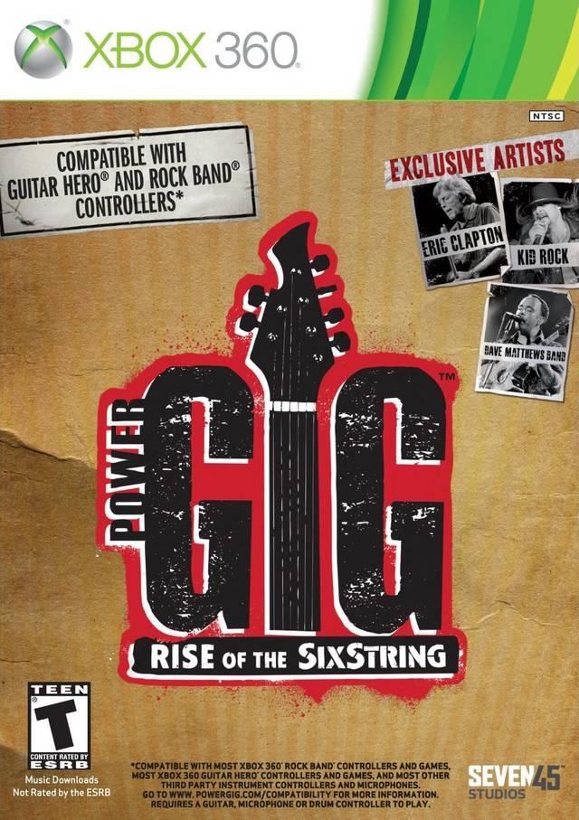 Front boxart of the game Power Gig - Rise of the SixString (United States) on Microsoft Xbox 360