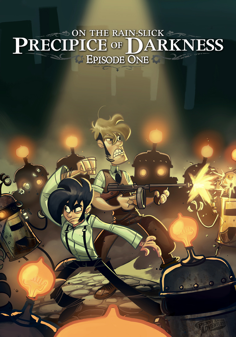 Front boxart of the game Penny Arcade Adventures - On the Rain-Slick Precipice of Darkness Episode One (United States) on Microsoft Xbox 360