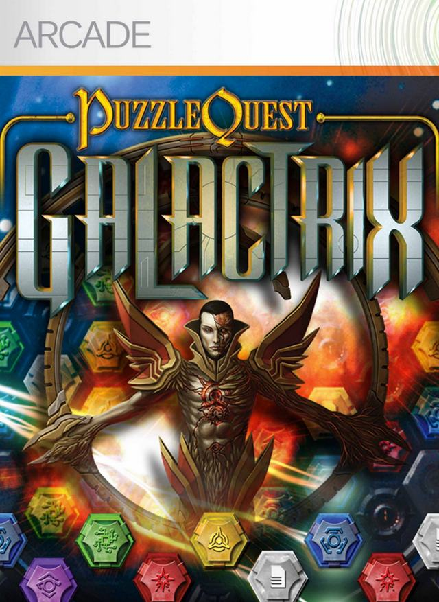 Front boxart of the game Puzzle Quest - Galactrix (United States) on Microsoft Xbox 360