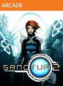 Front boxart of the game Sanctum 2 (United States) on Microsoft Xbox 360